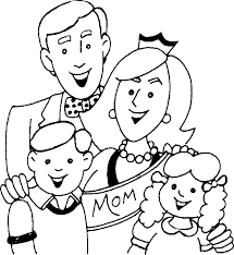 My Family Coloring Pages