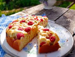 rhabarber himbeer kuchen