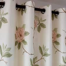 landhaus gardinen strauchpäonie muster für schlafzimmer