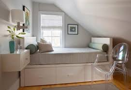 Beautiful Small Space Saving Attic Bedroom Interior Design Decorating With Ideas