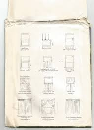 Sewing Curtains For Traverse Rods by 8918 Mccalls Sewing Pattern Window Essentials Curtains Drapes