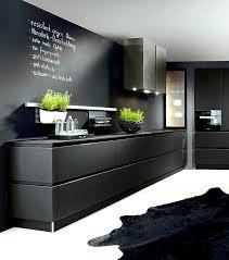 Black Handleless Kitchen Schroder Kuchen