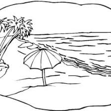 Beach Scene Coloring Page Free Printable Pages