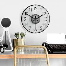 wanduhr aus glas modern mit minutenanzeige 02 wall