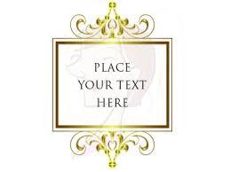 Heritage Style Gold Chandelier Frames Clip Art 10104