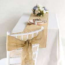 ruban pour noeud de chaise 10 ruban noeud de chaise en jute 1 chemin de table toile de jute