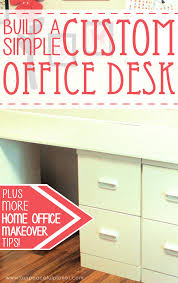 Building A Simple Wood Desk by How To Build A Simple Large Surface Home Office Desk