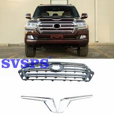 100 Truck Grills US 22325 5 OFFAuto Parts OEM STYLE ABS CHROME Front Middle Grill Grille For Toyota Land Cruier LC200 Vehicle Car 2016 2018 Yearin Racing