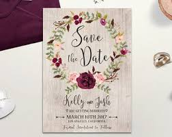 Floral Rustic Wedding Invitation Printable Boho Chic Suite Watercolor Peony Invite Bohemian Digital File