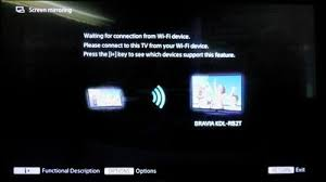 It depends on the Android Version you are using on the ScreenCast and enable Wireless Display ce that is done Switch the TV to the below mode