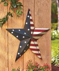 Large Metal Star Inside Outside Stake Or Hang Patriotic Rustic Country Art Decor
