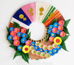 Recycled Materials Floral Wreath