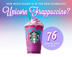 Look How Much Sugar Is In A Starbucks Unicorn Frappuccino