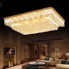 runde kristall leuchten luxus lobby europäischen wohnzimmer licht rechteckigen kristall deckenleuchten lichter leuchte