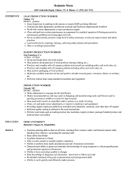 Gallery Of Factory Worker Resume Template