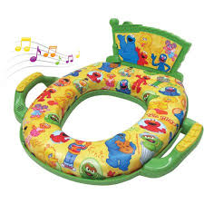 Walmart Potty Chairs For Toddlers by Sesame Street Deluxe Softy Potty Seat With Sound Walmart Com