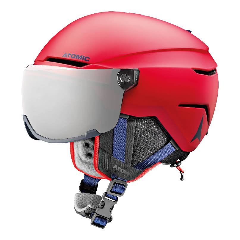 Atomic Savor Visor Junior Ski Helmet - Red, X Small