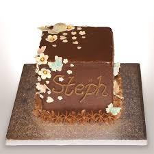 20 square butterfly chocolate orange birthday cake