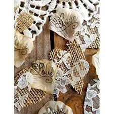 Burlap And Lace Silk Rose Petals Rustic Wedding Confetti For Table Runner Or Aisle