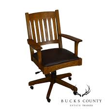 Stickley Mission Oak Swivel Tilt Desk Chair – Bucks County Estate ... Edwardian Oak Swivel Desk Chair Bagham Barn Antiques Frontier Fniture Repair And Restoration Rocker Office Agio Patio Rocking Chairs Glider The Home Depot 2 Classic Poly Creek Amish Best Rated In Helpful Customer Reviews Amazoncom Ow Lee Classico Club Ding Jive Furnishings Glide Kaylee Barrel Arm Bronwyn Alloy Recliner Breegin End Table Atlas Portland Dressing Mirror Sleigh Back Mattress Store