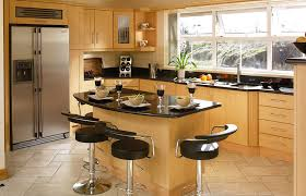 Kitchen Warm With Black Countertops Ideas Also Wooden