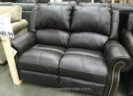Berkline Sofas Sams Club by Berkline Reclining Leather Loveseat Costco Weekender