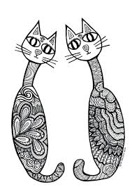Cat Coloring Pages Adults Splat Splat Cat Coloring Pages 1673