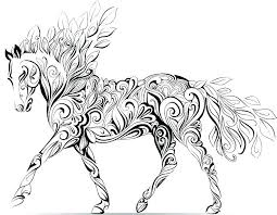 W8421 Horse Coloring Pics Nice Head Page Pages