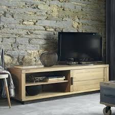 meuble tv large meuble tv bas 1 porte coulissante 100 chane massif