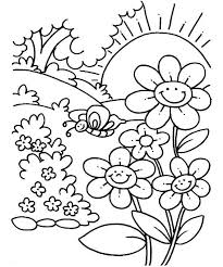 Spring Coloring Pages For Kids