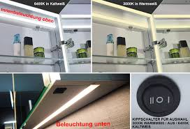 design aluminium led beleuchtung kalt warm weiß badezimmer spiegel schrank smc10070dp