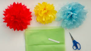 How To Make Tissue Paper Pom Flowers In 4 Easy Steps