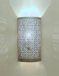 moroccan wall light silver finish moroccan bazaar
