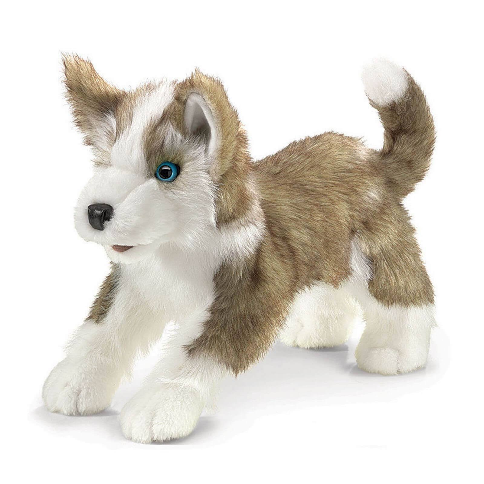 Folkmanis Plush Hand Puppet To - Wolf Puppy, 13""
