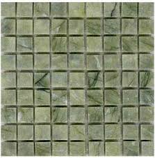 Vegetable Green PMS VG Polished Marble Mosaic Tiles 15mm