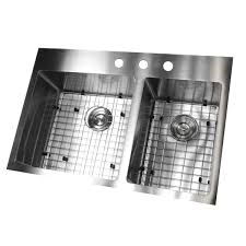19 X 33 Drop In Kitchen Sink by 33 Inch Top Mount Drop In Stainless Steel Double Bowl Kitchen