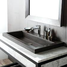 Trough Sink Vanity With Two Faucets by Bathroom Sink Double Trough Bathroom Sink Toilet Style Two