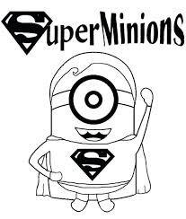 Film Free Minion Cartoon Superhero Superman Printable Coloring Pictures Minions Despicable Me Pages 2 Colouring