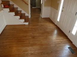 Applying Minwax Polyurethane To Hardwood Floors by Red Oak Foyer Stained With Special Walnut And Coated With A Satin