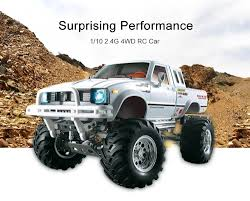 100 Rc Truck 4x4 HG P407 110 Scale 24G 4WD Rally RC Car Metal 4X4 Pickup Rock