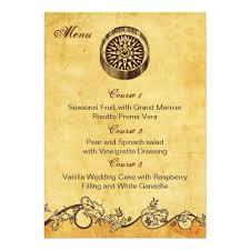 Shabby Chic Wedding Menus Rustic Compass Nautical Menu Cards