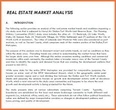 Real Estate Market Report Template Then