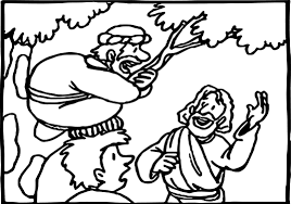 Zacchaeus Song Coloring Page Archives Within
