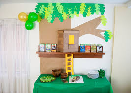 DIY Cardboard Paper Magic Tree House Birthday Party Decoration Its Easy To Recycle