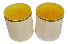 Stiffel Lamp Shades Glass by Vintage 1950 U0027s Hollywood Regency Stiffel Drum Lamp Shades A Pair
