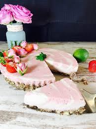 erdbeer quark mandel torte ohne backen rezept ohne zucker