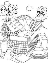 Picnic Basket Printable Coloring Page