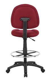 chairs ergonomic drafting chair with arms white ofm anatomy