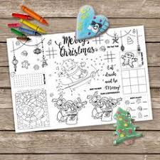Printable Christmas Placemat Kids Activity Table Mat