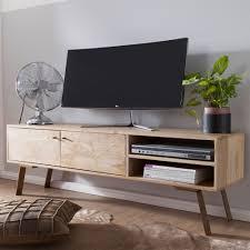 wohnling hifi lowboard sikar mango massivholz landhaus tv kommode 145x47x35cm fernsehschrank unterschrank mit 2 türen fernsehtisch ablagefach